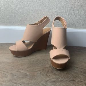 Charlotte Russe Light Pink Wedges